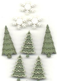 Buttons - Holiday Collection - Evergreen