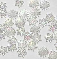 Buttons - Tiny Crystal Snowflakes
