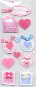 Card Embellishments - Felt Hearts