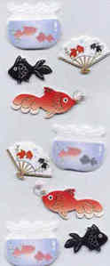 Card Embellishments - Oriental Fish