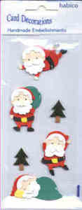 Card Embellishments - Santas