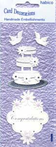 Card Embellishments - Wedding Cake