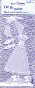 Card Embellishments - Wedding Dress