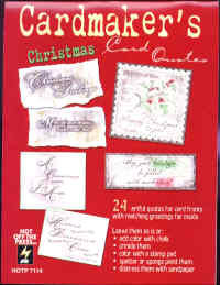 Hot Off The Press Cardmaker's Christmas Card Quotes