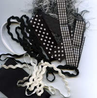 Carysma Ribbon & Fibre Assortment - Black & White