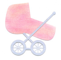 Light Arted Designs - Baby Pram - Double Cut