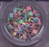 Woodware Brads - Square - Pastel