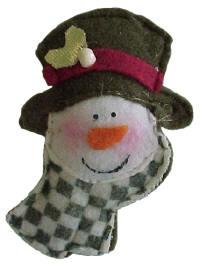 Fabric Snowmen