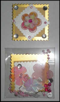 Crafts Too Pink Flower Embellishment Kit