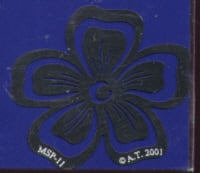 American Traditional Stainless Embossing Stencil - Flower Ornament