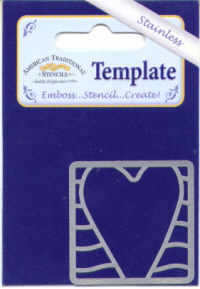 American Traditional Stainless Embossing Stencil - Heart