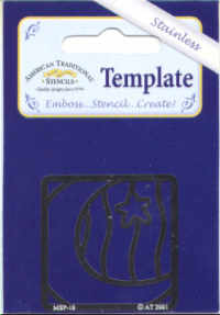 American Traditional Stainless Embossing Stencil - Moon and Star