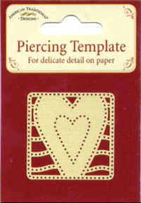 American Traditional Piercing template - Hearts