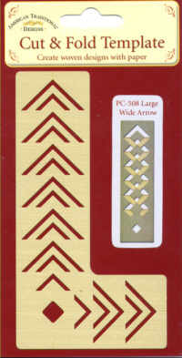 American Traditional Large Wide Arrow Cut and Fold Template