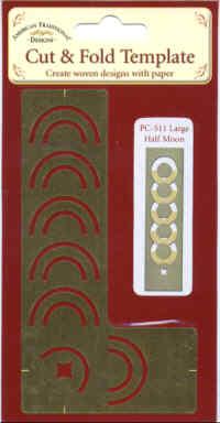 American Traditional Cut & Fold Template - Large Half Moon