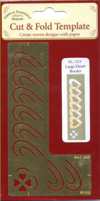 American Traditional Cut and Fold Template - Large Heart Border