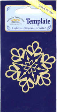 American Traditional Brass Embossing Stencil - Snowflake Ornament