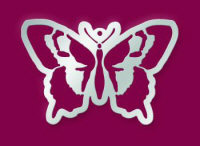 American Traditional Stainless Embossing Stencil - Butterfly Ornament