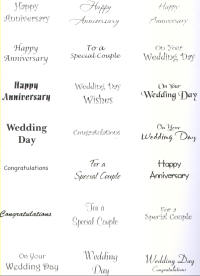 Toppers - Wedding/Anniversary Sentiments