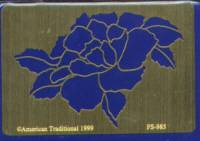 American Traditional Brass Embossing Stencil - Antique Rose