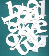 BAY6 - Chipboard Alphabet - Lowercase - Medium