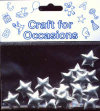 Fabric Padded Stars - Silver - Small