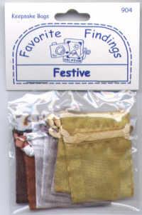 Favourite findings keepsake bags - Festive