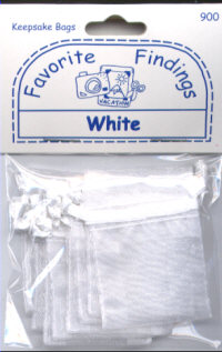 Favourite Findings Keepsake Bags - White
