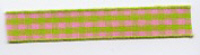 Gingham Ribbon - Pink & Lime