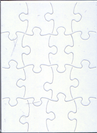 Woodware Jigsaw Blank single