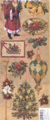 K & Company Elizabeth Brownd Embossed Stickers - Holiday Images Embossed St