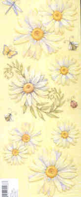 K & Company Embossed Stickers - Big Daisies