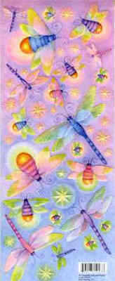 K & Company Tim Coffey Dragonfly Embossed Stickers