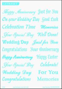 Letraset Foil Transfers - Celebrations