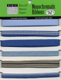 Bazzill Basics Monochromatic Ribbon Packs