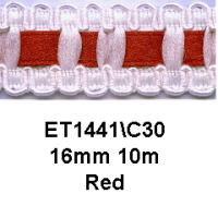 Ribbon Insert Braid - Red