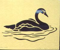 Brass Embossing Stencil - Swan