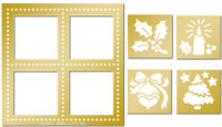 Avec Lay Out Embossing Template Set - Holly