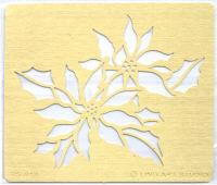 Brass Embossing Stencil - Poinsettia