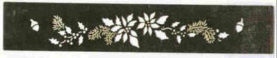 Border Stencil - Poinsettia