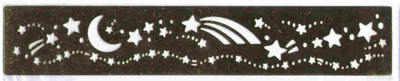 Border Stencil - Stars and Moon