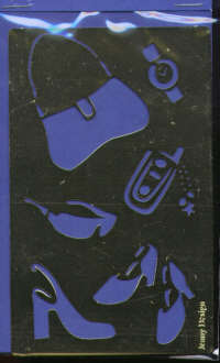 Brass Embossing Stencil - Shoes and Handbag