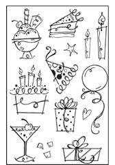 Woodware Clear Magic - Birthday Fun