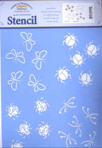 American Traditional Stencil - Bug Patterns