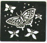 Brass Embossing Stencil - Butterflies