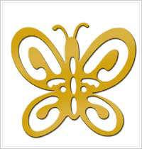 All Night Media Brass Embossing Stencil - Butterfly, Shaped