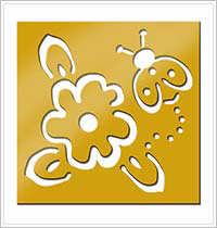 All Night Media Brass Embossing Stencil - Ladybug