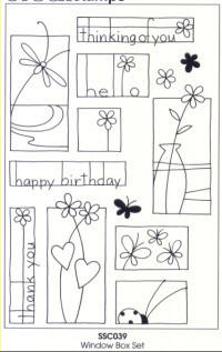 Stampendous Perfectly Clear Window Box Unmounted Rubber Stamp Set