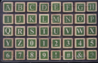 Whispers Rubber Stamps - Inverse Uppercase Alphabet