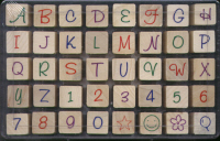 Whispers Rubber Stamps - Freestyle Alphabet